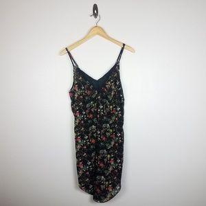 Sam Edelman Womens Dress Size L Black Floral Print